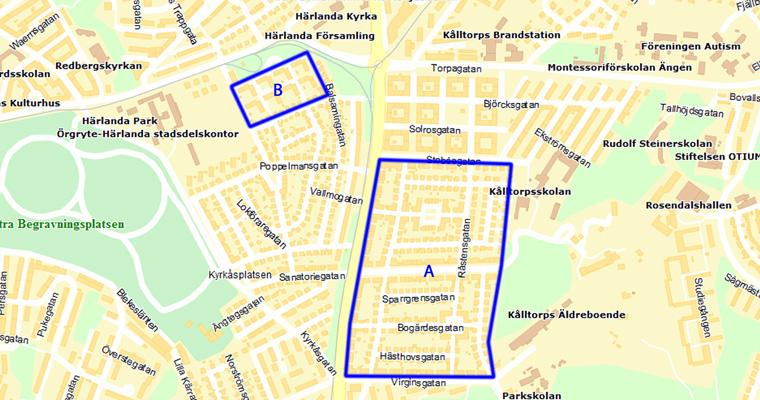 församlingar göteborg karta Kålltorp   Ändring av detaljplaner i Kålltorp   Plan  och  församlingar göteborg karta